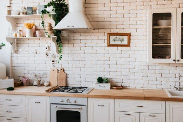 De foto van een mooie keuken