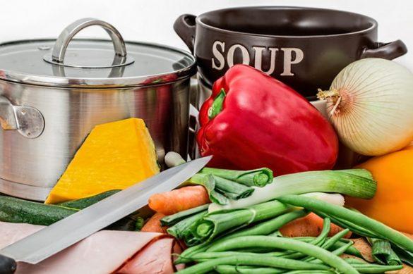 Een foto met groenten voor het Leidse groentesoep recept